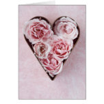 pink roses cookie cutter card