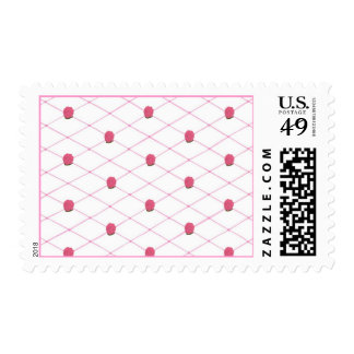 Pink Roses Criss Cross Quilt Pattern Stamps