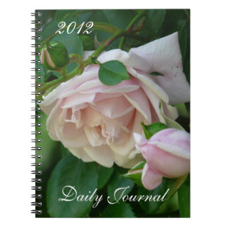 Pink Roses-Daily Journal-Year Spiral Note Books