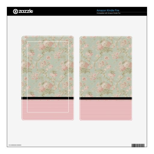 Pink Roses Decal For Kindle Fire
