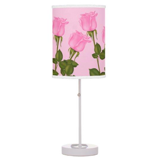 Pink Roses Desk Lamp
