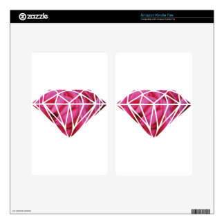 Pink roses diamond decals for kindle fire