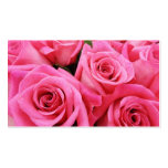 Pink Roses Double-Sided Standard Business Cards (Pack Of 100)