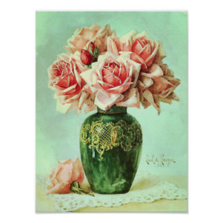 Pink Roses Fine Art Flower Painting Posters