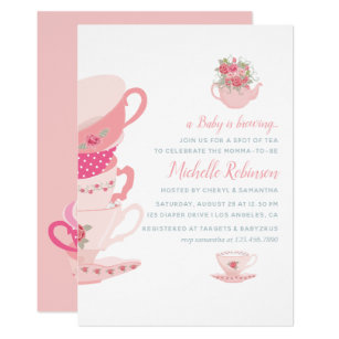 Save 60 on tea party baby shower invitations limited time only pink roses floral tea party baby shower invitation filmwisefo