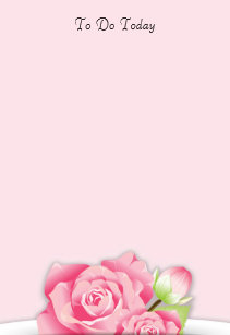 Pink flowers to do list gifts on zazzle pink roses flowers to do list post it notes mightylinksfo