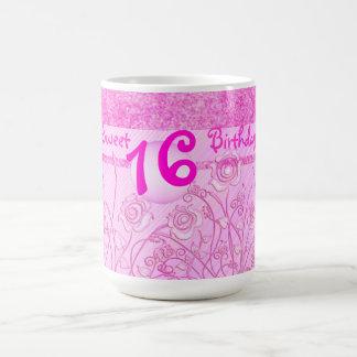 Pink roses for Sweet 16 mug