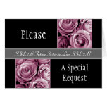 PINK Roses FUTURE SISTER IN LAW Be My Bridesmaid Card