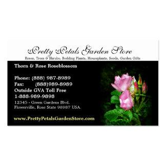 Pink Roses Garden Supplies Store Business Card