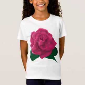 Pink roses Girls' Fine Jersey T-Shirt