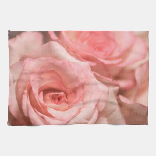 Pink Roses Hand Towel Zazzle