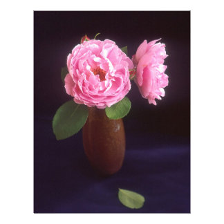 Pink Roses In A Vase Letterhead