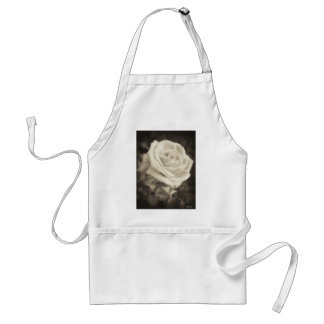 Pink Roses in Anzures 2 Antiqued Adult Apron
