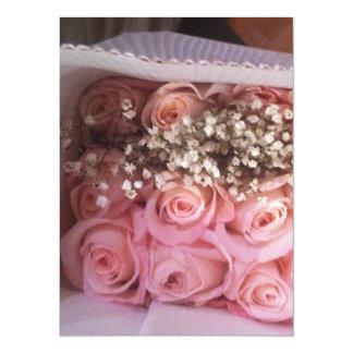 Pink Roses Invite
