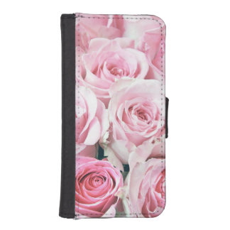 Pink Roses iPhone 5 5S Wallet Case