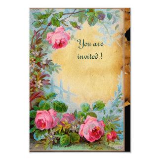 PINK ROSES & JASMINES Parchment Rsvp Card