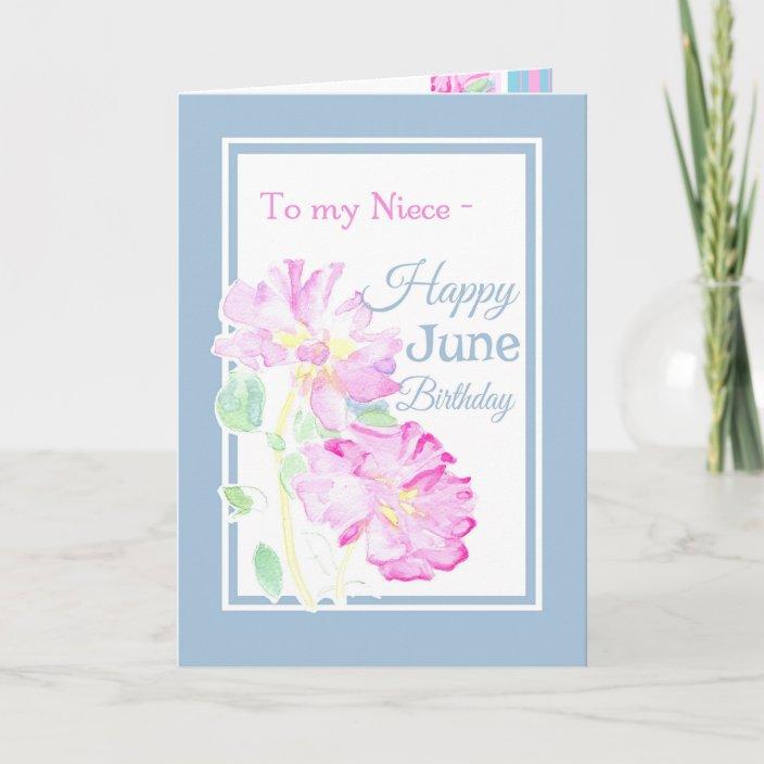 June Birthday Flower Card