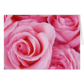Pink Roses just for you Card
