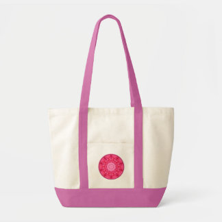 Pink Roses Kaleidoscope Canvas Bags