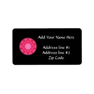 Pink Roses Kaleidoscope Label