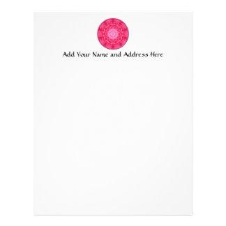 Pink Roses Kaleidoscope Letterhead Template