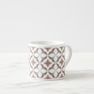 Pink roses kaleidoscope pattern espresso cup