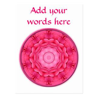 Pink Roses Kaleidoscope Postcard