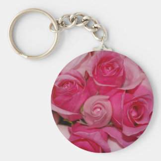Pink Roses - Keychain