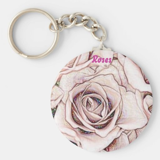 Pink Roses, keychain