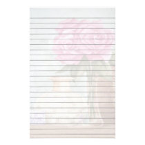 Pink Roses Lined Stationery