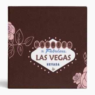Pink Roses Married in Las Vegas Wedding Album Binder