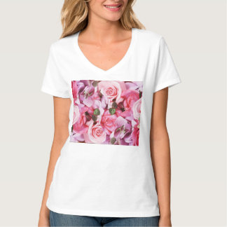 pink roses mather s day T-Shirt