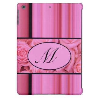 pink roses monogram case I Pad Air iPad Air Cover