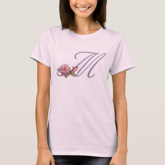 Pink Roses Monogram M T-Shirt
