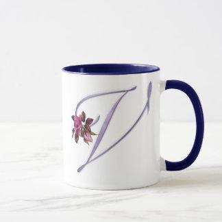 Pink Roses Monogram V Mug