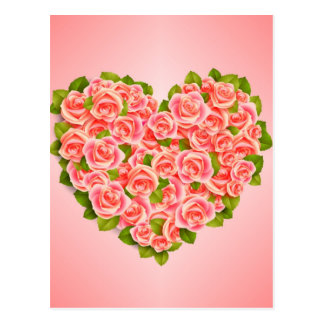 Pink Roses, Mother Birthday, Postcard