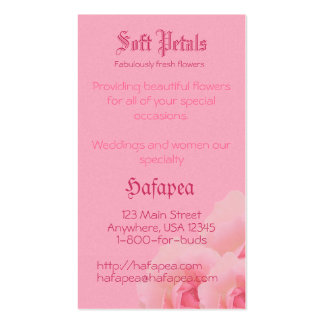 Pink Roses Mother's Day Business Card