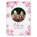 Pink Roses Mother's Day Greeting Card