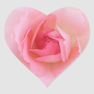 Pink Roses Mother's Day Heart Sticker