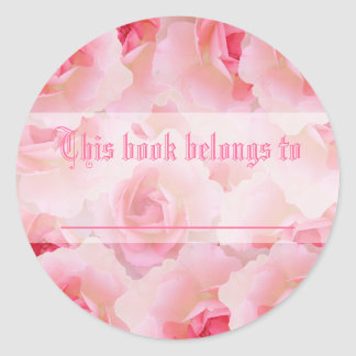 Pink Roses Mother's Day Stickers