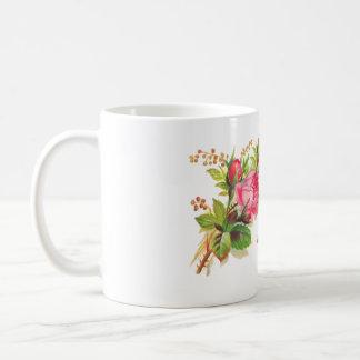Pink roses mug, Everlasting Love in French