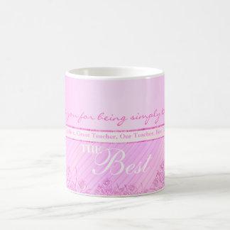 Pink roses mug for the best teacher