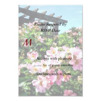 Pink Roses Near Trellis Card
