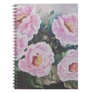 Pink roses note books