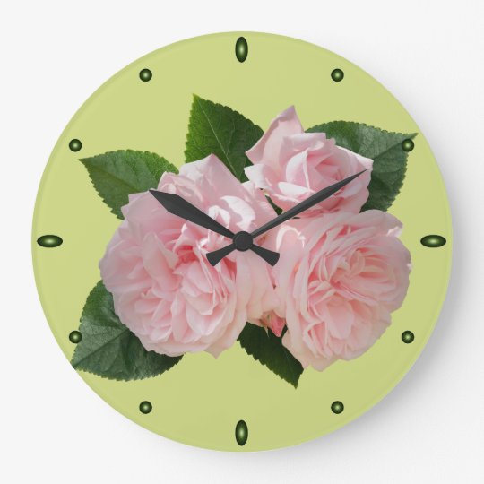 Pink Roses 'Octavia Hill' Large Clock