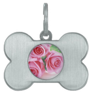 Pink Roses of Love Pet ID Tag