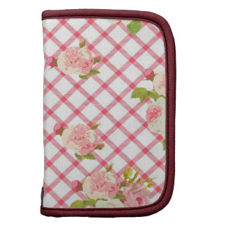 Pink Roses On A Pink Trellis Folio Planner