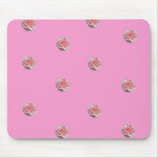 Pink Roses on Pink Mouse Pad