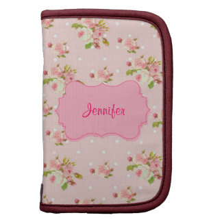 Pink Roses On Pink With White Dots Organizers