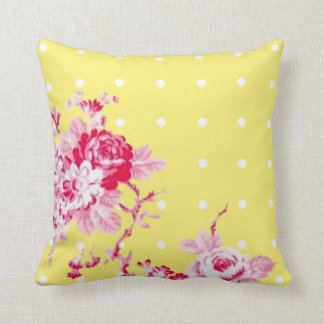 Pink Roses On Yellow Pillow